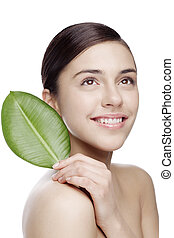 natural body care - fresh face with natural makeup, no...