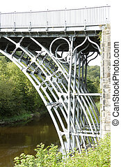 The Iron Bridge over the River Severn,showing detailed...