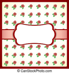 Vintage lace frame with roses