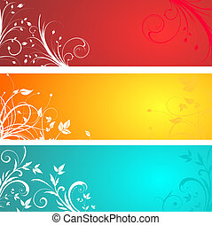 Floral panels - Panels with different floral designs