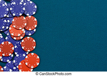 Gambling chips background