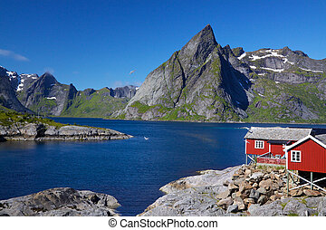 Fjord on Lofoten islands - Scenic fjord on Lofoten islands...