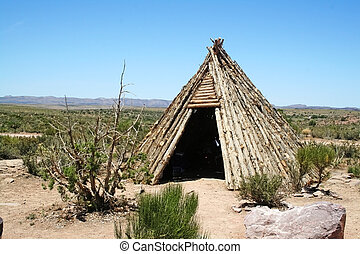 American Indian Teepee - A native American Indian teepee...