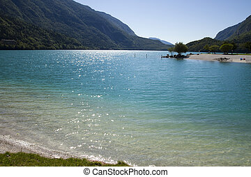 View of Molveno lake