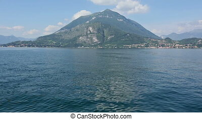 Lake Como Italy and family on shi - Family mother with...