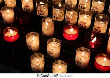 velas, oração