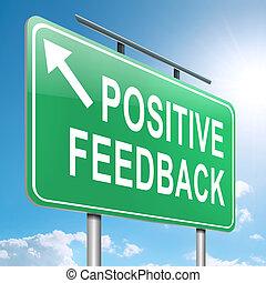 Positive feedback concept.