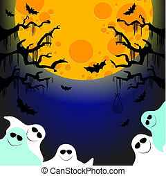 five friendly ghosts - it is the vector picture in a format...
