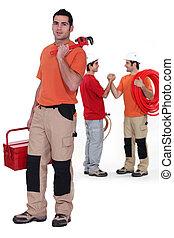 Plumbing team