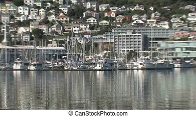 Wellington marina and harbour - Wellington, New Zealand View...