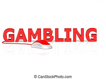 Online gambling - Rendered artwork with white background