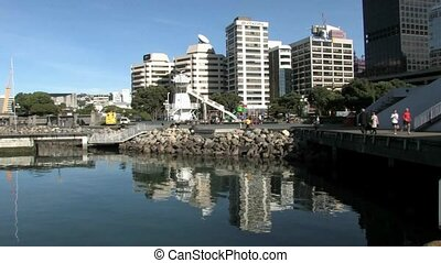 Wellington waterfront - Wellington, New Zealand, View over...