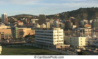 View over Wellington waterfront - Wellington, New Zealand...