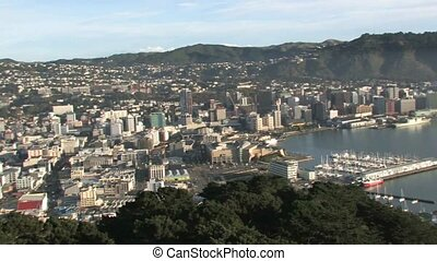 Overlooking Wellington harbour. - Wellington, New Zealand....