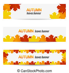Autumn leaves banners - Autumn banners with autumn leaves