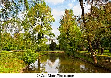 Rotunda in the Center of the Pond in Querini Park, Vicenza