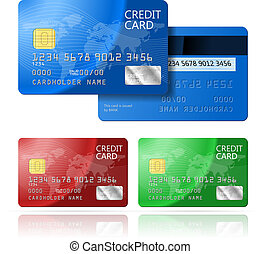 Credit Card 2 sides - Realistic vector Credit Card two...