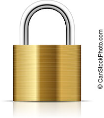 Padlock Illustration - Realistic Padlock Illustration....