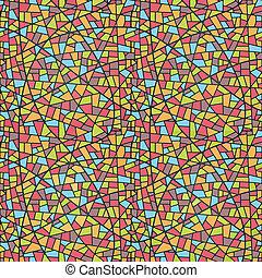 Seamless Mosaic Pattern - Illustration Seamless Mosaic...