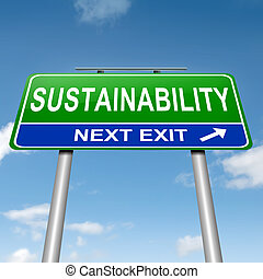 Sustainability concept - Illustration depicting a roadsign...