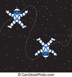 Spaceman seamless pattern - Seamless pattern with astronauts...