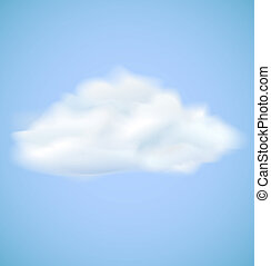 Vector cloud on blue sky