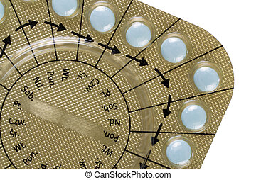 Birth Control Pills - close up of Birth Control Pills