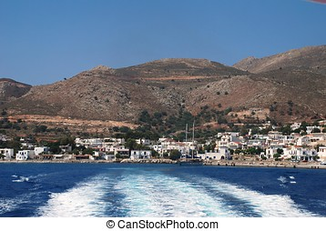 Livadia harbour, Tilos island - Trails in the water as a...