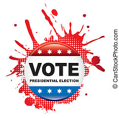 vote background - vote presidential election sign over white...