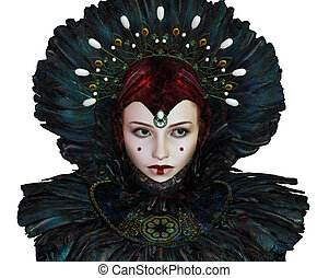 Fantasy Portrait CA - portrait of a young woman with fantasy...
