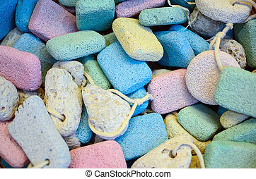 Colorful scrub stones background