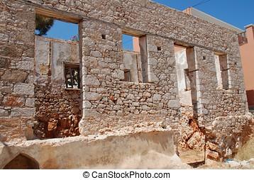 Derelict building, Emborio - An old derelict building at...