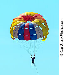 Extreme sports - Parachute at over sky
