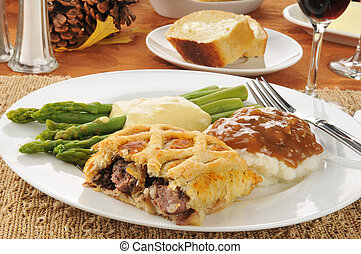 Beef Wellington - Beef wellington with asparagus and mashed...