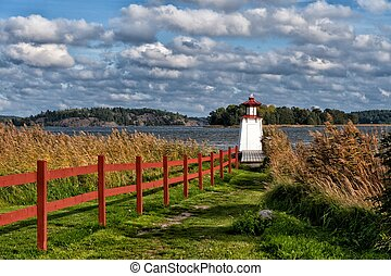 Windy autumn day at Mem in Ostergotland, Sweden - the end or...