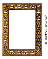 Carved wooden frame - The carved wooden frame painted with a...