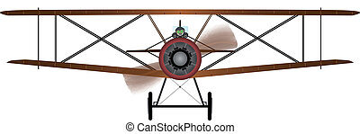 Biplane - A WWI RFC fighter plane.
