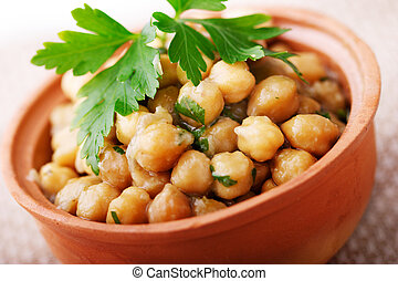 chic peas - chic pea dish with parsley