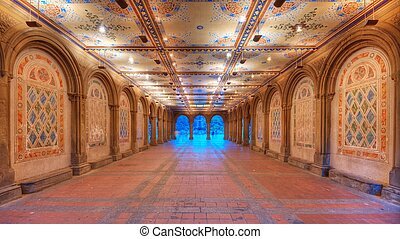Bethesda Terrace Underpass - Ornate underpass of Bethesda...