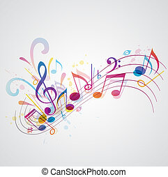 Music background - Vector music background with notes