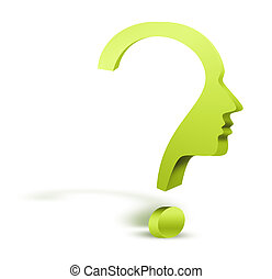 question mark human head symbol