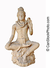 Statue of the hinduist god  on a white background
