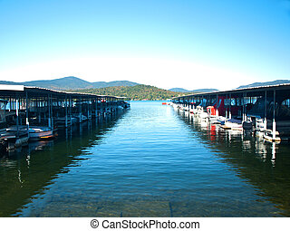 boats docked in lake placid,ny