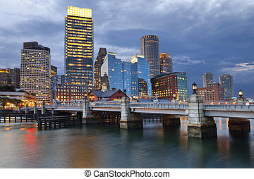 Boston - Image of Boston city skyline at twilight.