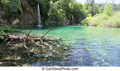 Beautiful waterfall and small lake - Beautiful waterfall and...