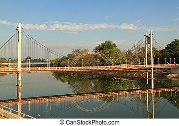 Rope bridge thailand