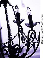 chandelier - blue chandelier in contrast to the background