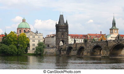 Prague, view of Karlov Bridge
