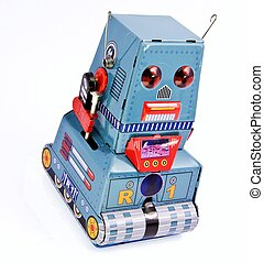 robot - old robot toy