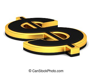 The gold dollar sign